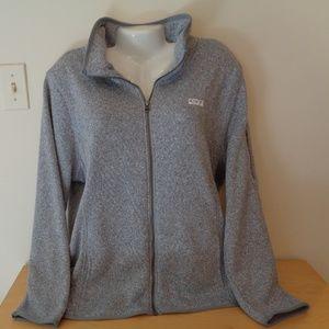 Old Navy Active Knit & Fleece Gray Track Jacket